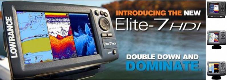Lowrance Elite-7 HDI x-dcr
